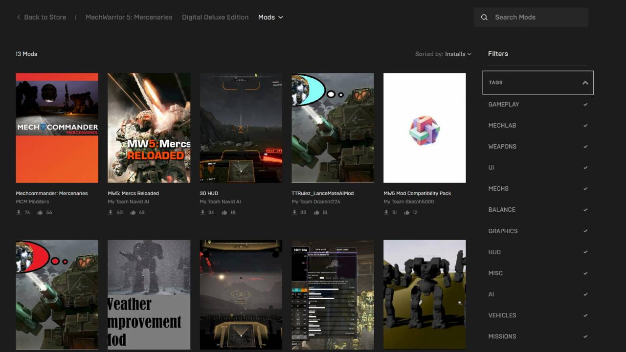 Epic Games Store follows up achievements with early mod support