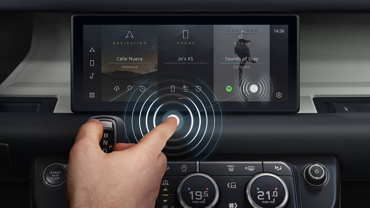 Jaguar Land Rover touchless-touchscreen cuts frustration and COVID-19 spread