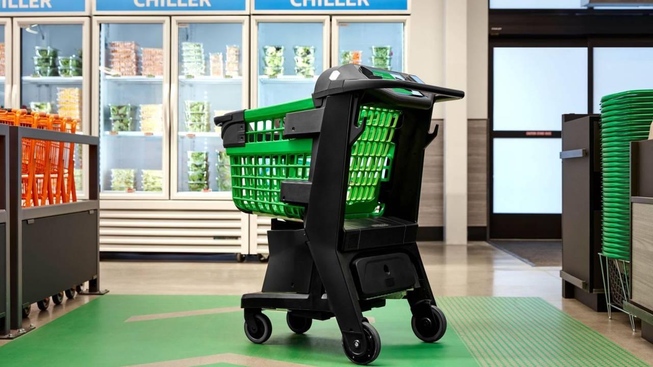 Amazon Dash Cart gives the shopping cart a cashier-free upgrade