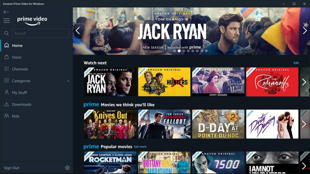Amazon Prime Video Windows app lets you download videos with a catch