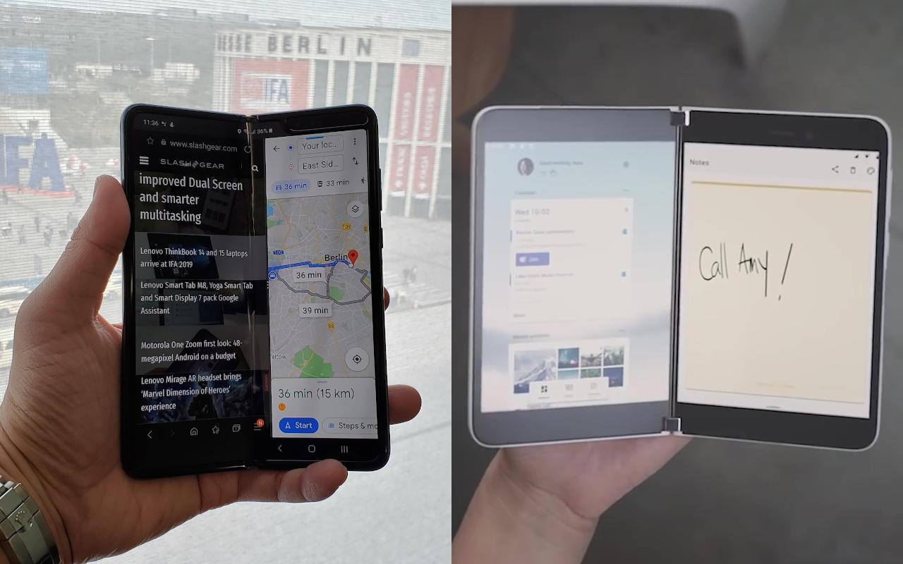 Galaxy Z Fold 2 Vs Surface Duo Who Will Fold And Who Will Win Slashgear