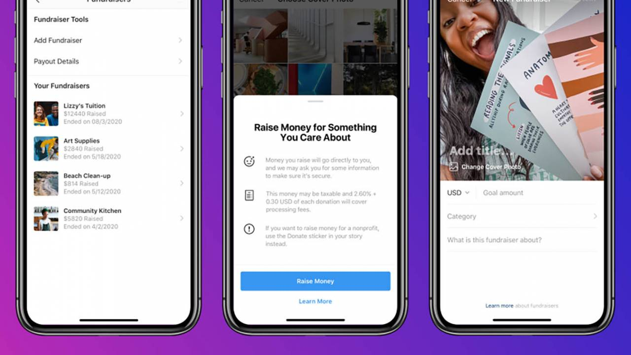 Instagram tests personal fundraising tool in US and UK