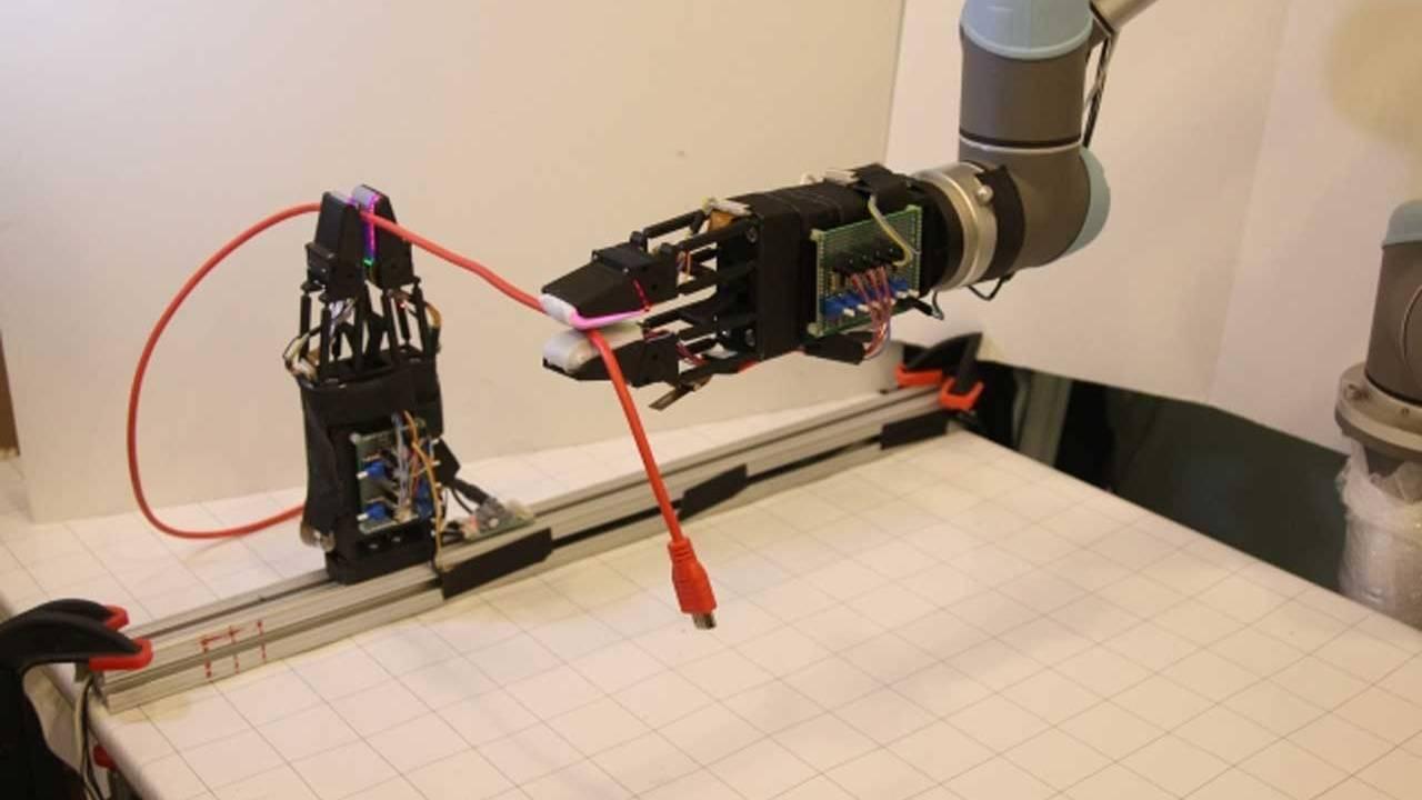 MIT researchers create a robot with a soft gripper that can manipulate cables