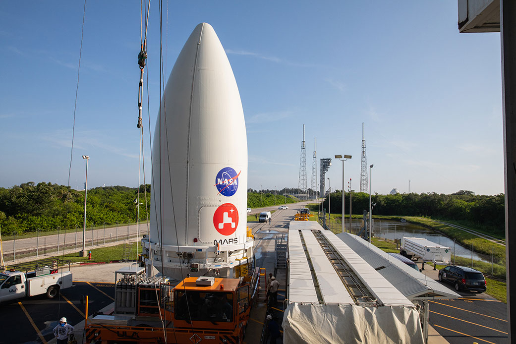 Mars rover meets rocket as Perseverance gets ready for rescheduled launch