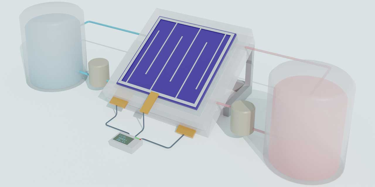 Researchers create efficient and long-lasting solar flow battery