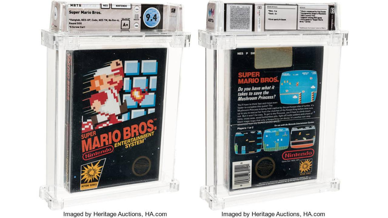 Sealed Super Mario Bros copy becomes most expensive game ever sold
