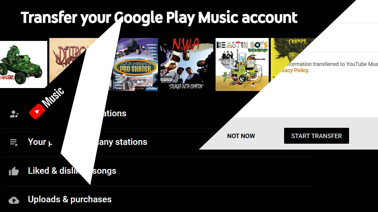 Google Music transfer to YouTube Music one-click transfer site launched