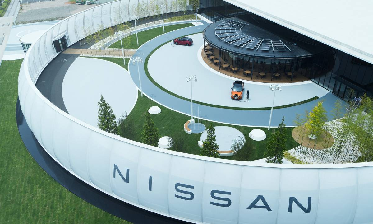 Nissan Pavilion opens in Japan and accepts electricity for parking fees