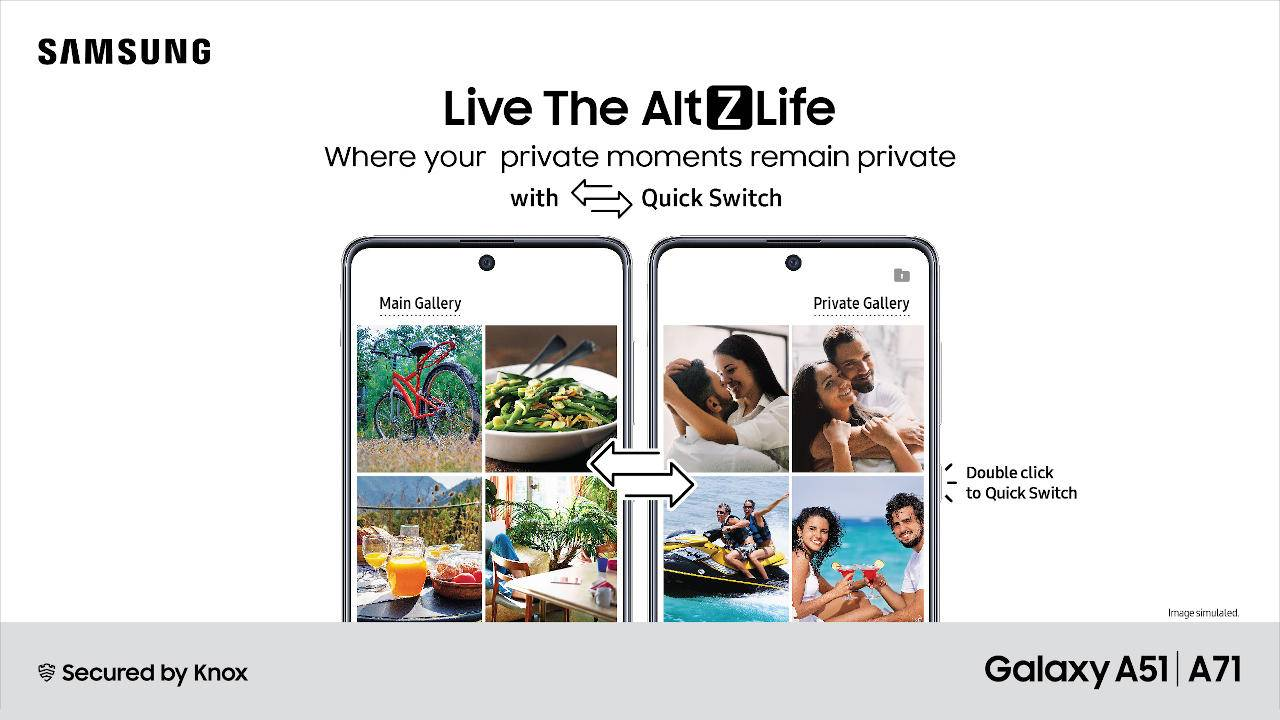 Galaxy A71, Galaxy A51 get AltZLife update with new privacy mode switch
