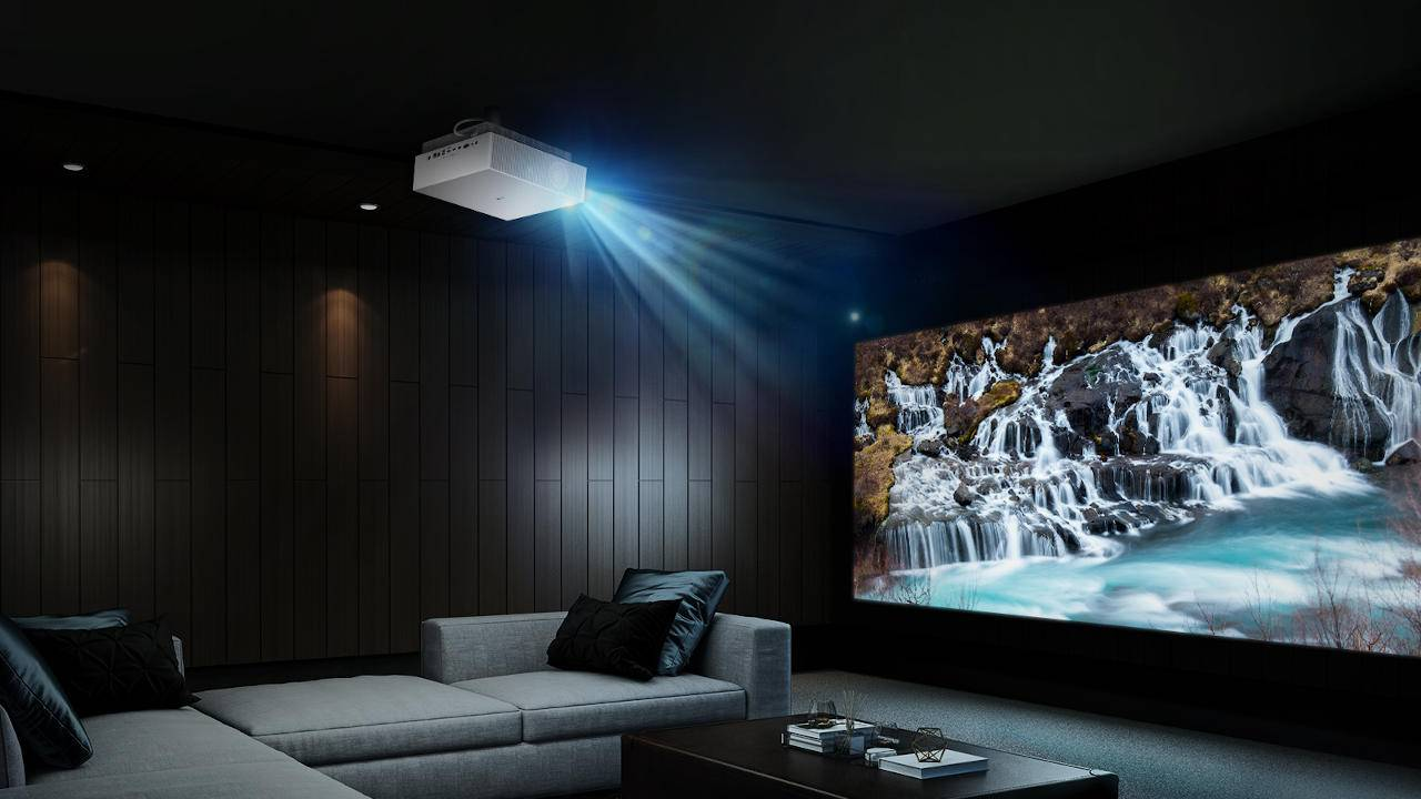 LG CineBeam 4K UHD smart projector can adjust to the room's brightness
