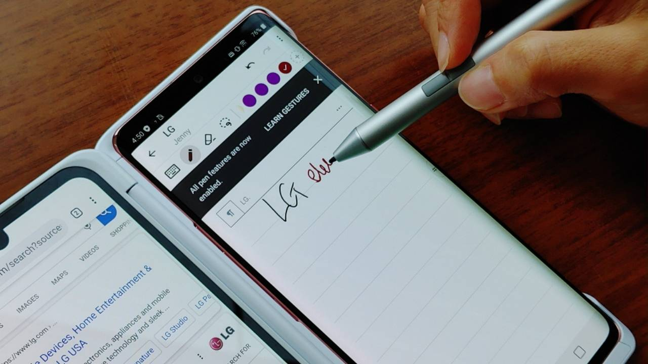 LG Velvet advertises active stylus support on Galaxy Note 20 debut