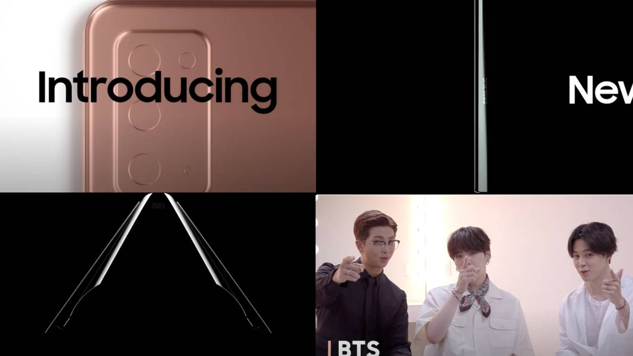 Samsung Unpacked 2020 trailer teases new devices and BTS