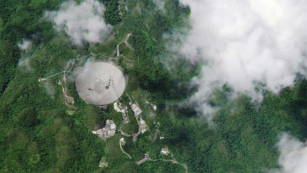 Broken cable at iconic Arecibo Observatory damaged its radio telescope