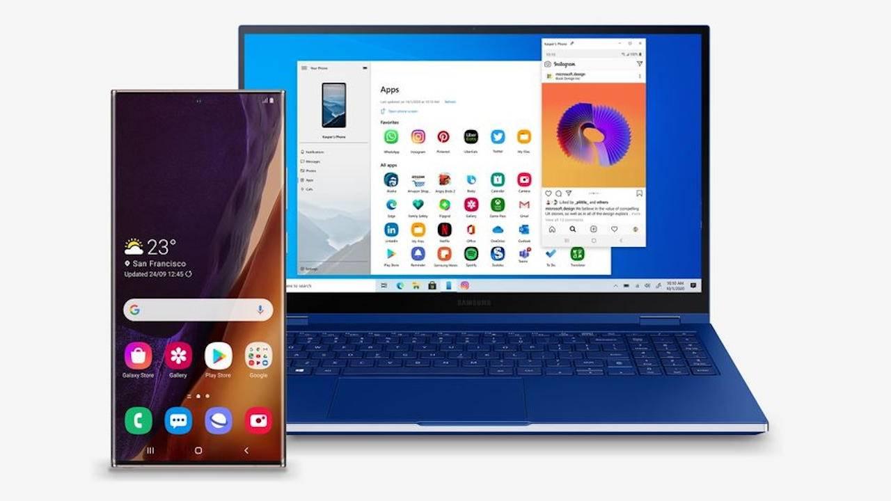 Galaxy Note 20 apps will run in Windows like native apps