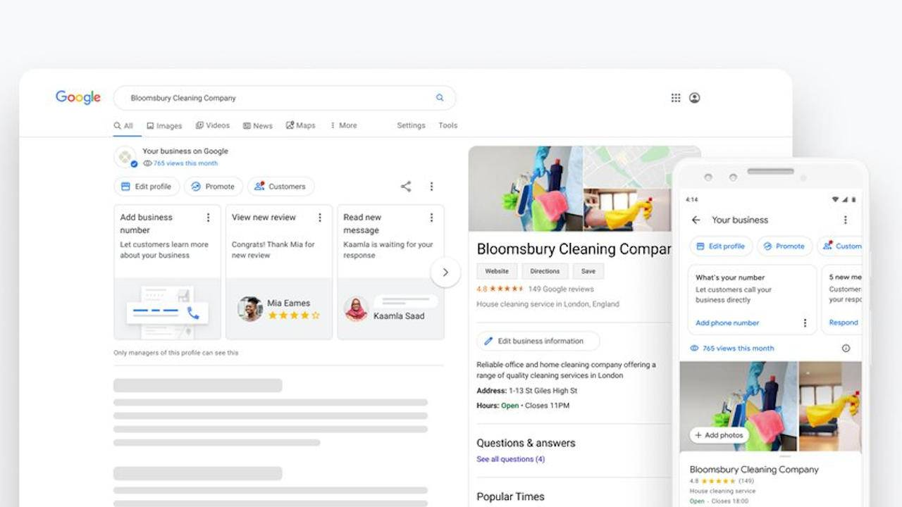 Google My Business now offers faster ways to update profiles