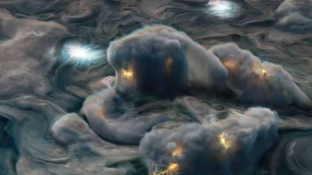 "NASA Juno mission data reveals ""shallow lightning"" in Jupiter's atmosphere"