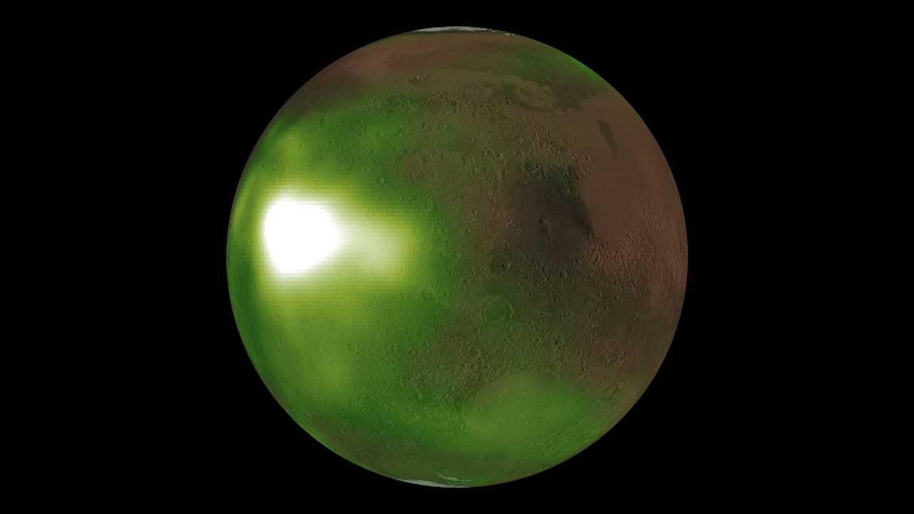 NASA MAVEN spacecraft spies ultraviolet glow around Mars