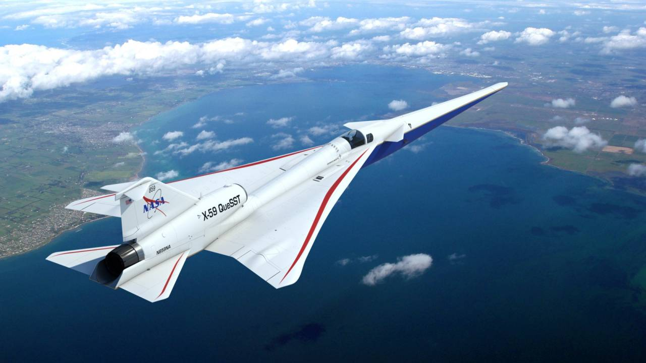 NASA just unboxed its beastly X-59 supersonic jet engine