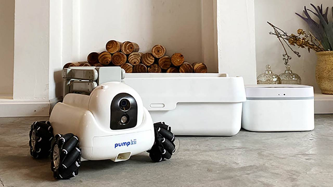 Pumpkii home robot is like a Roomba that can scoop litter boxes