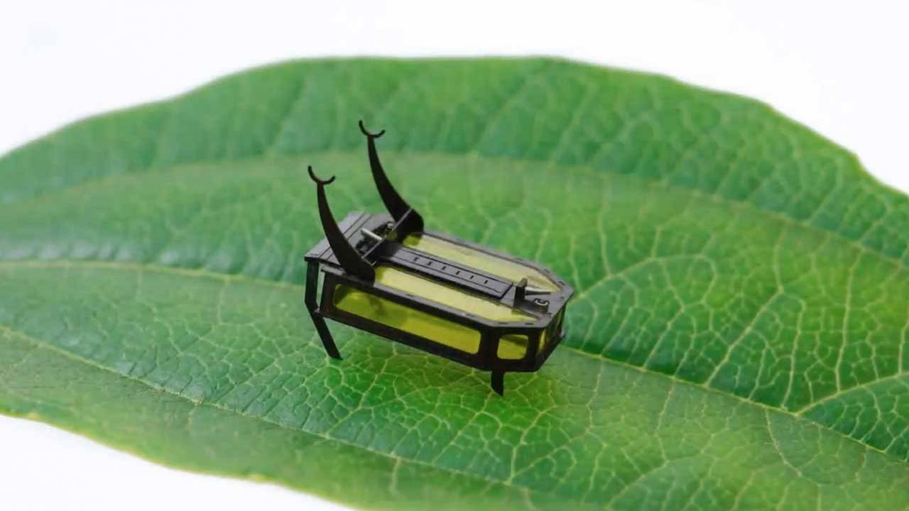 RoBeetle is a tiny robot that uses methanol for fuel