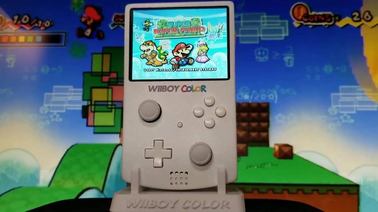 Nintendo Wii made portable in a Game Boy Color mod
