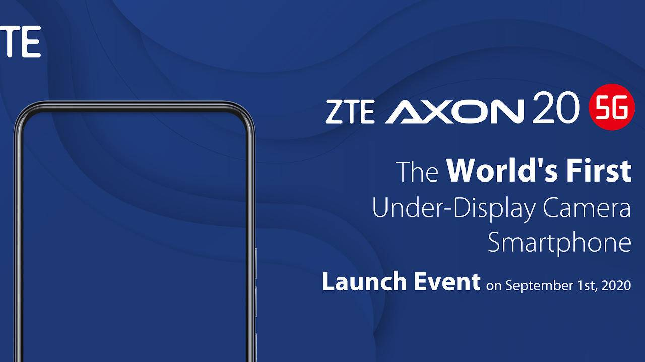 ZTE Axon 20 5G with under-display camera is coming next month