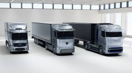 Mercedes reveals electric and fuel-cell trucks for its green haulage roadmap
