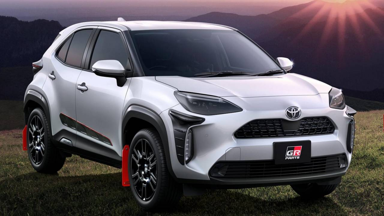 This Toyota Yaris Cross in Gazoo Racing livery is ready for the rally circuit