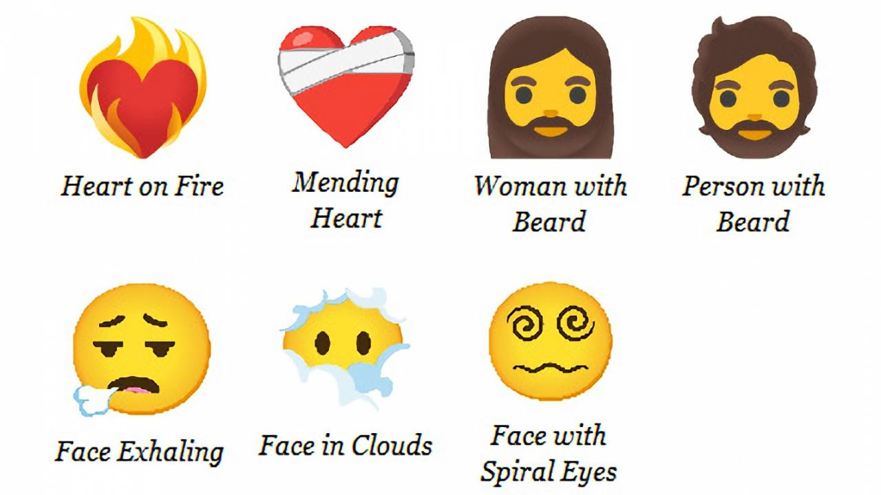 Emoji 13.1 adds seven new emoji, plus tons of skin tone variations