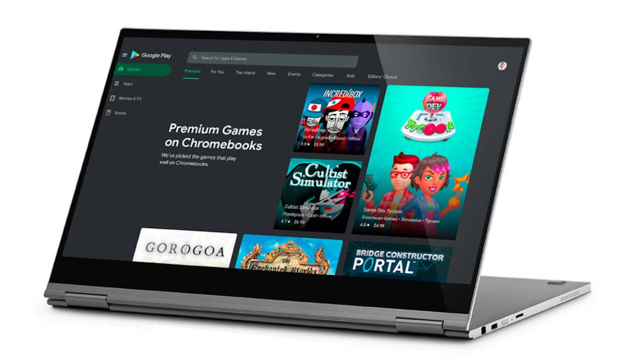 Chromebook gaming gets a bigger push with Google Play premium section