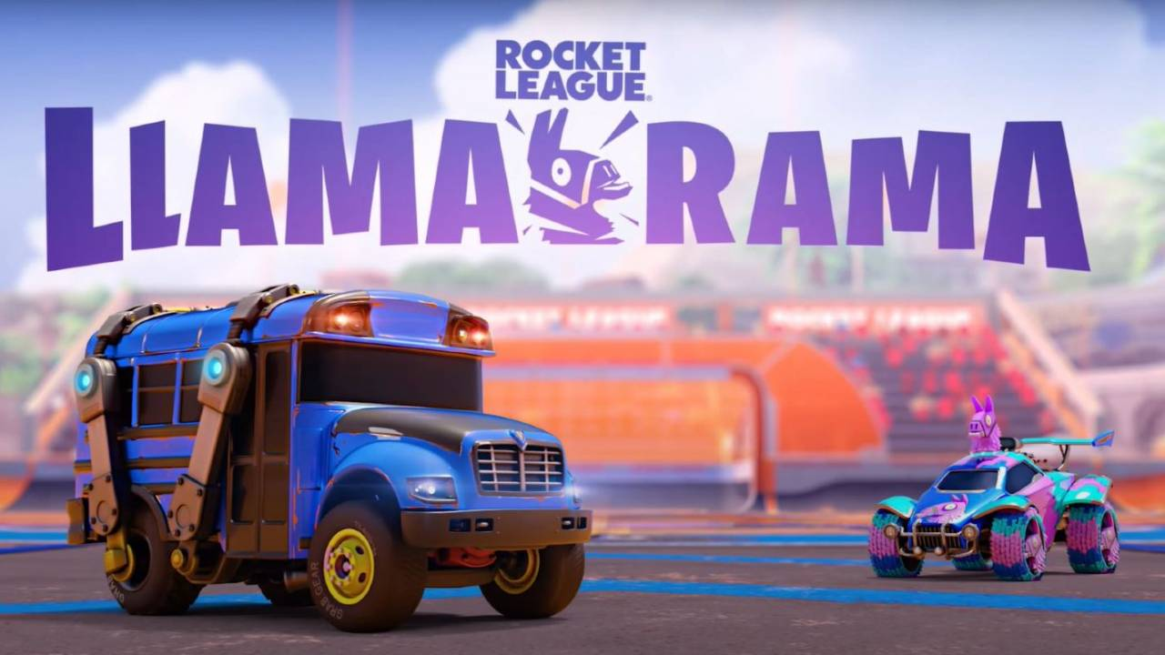 Fortnite's Battle Bus is moving over to Rocket League for Llama-Rama