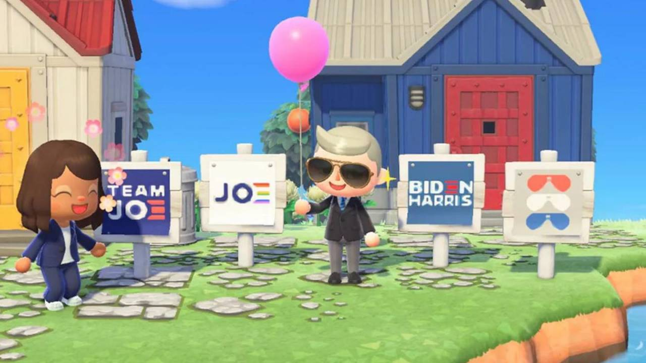 Animal Crossing gets political with official Biden-Harris campaign signs