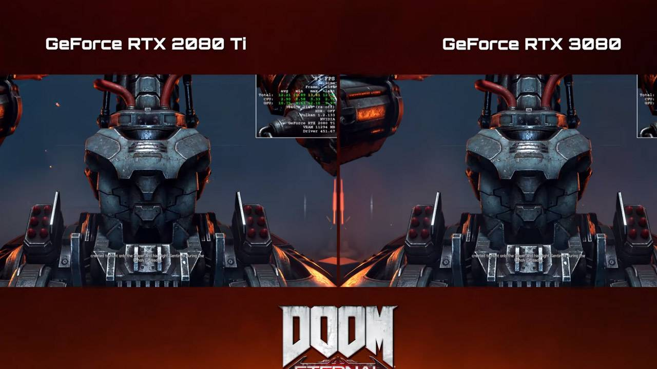 Watch RTX 3080 4K gameplay with DOOM Eternal