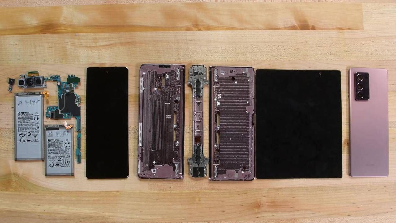 Galaxy Z Fold 2 teardown shows improved design, better repairability