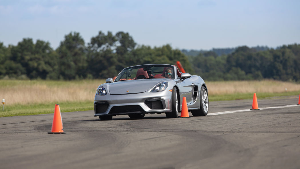 Teenager shatters Guinness World Record for Fastest Vehicle Slalom aboard a Porsche 718 Spyder