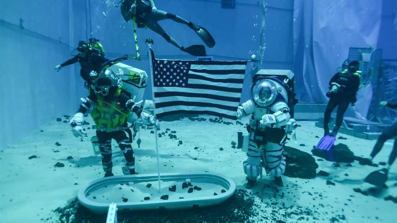 NASA underwater training for the Artemis moon mission is underway
