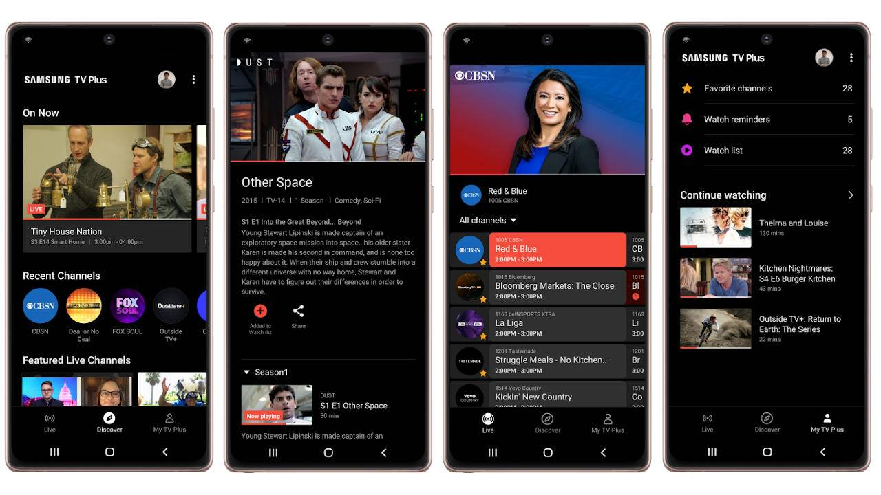 Samsung TV Plus streaming app comes to some Galaxy phones