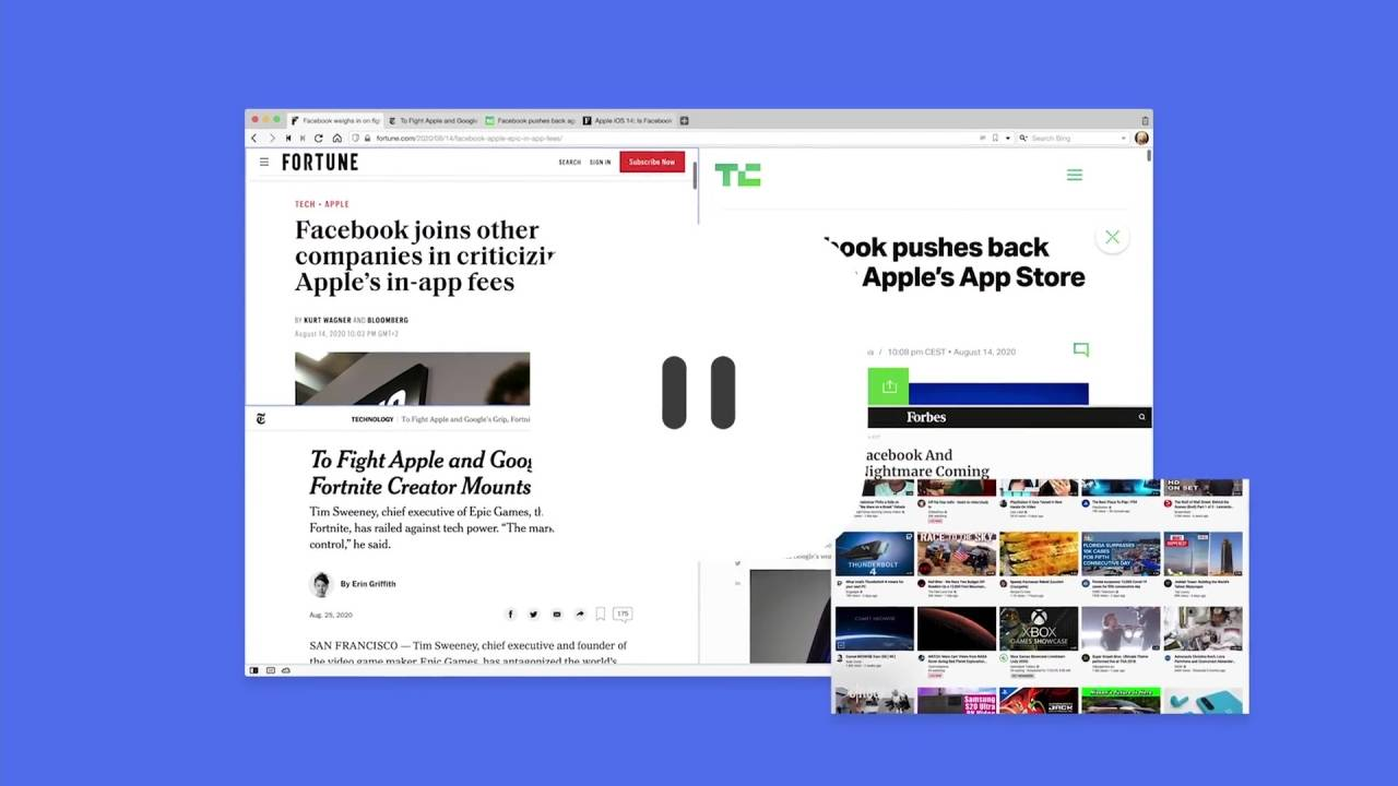 Vivaldi web browser lets you pause the Internet
