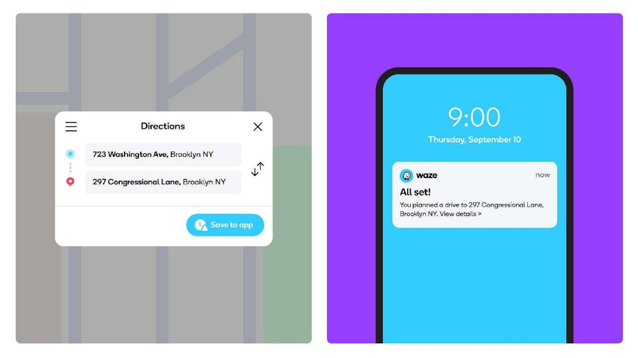 Waze now lets you move planned drives from Web to phone