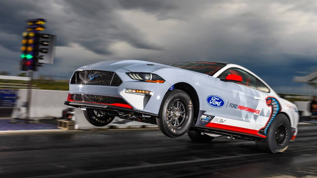 Ford's all-electric Mustang Cobra Jet 1400 will debut at the NHRA U.S. Nationals