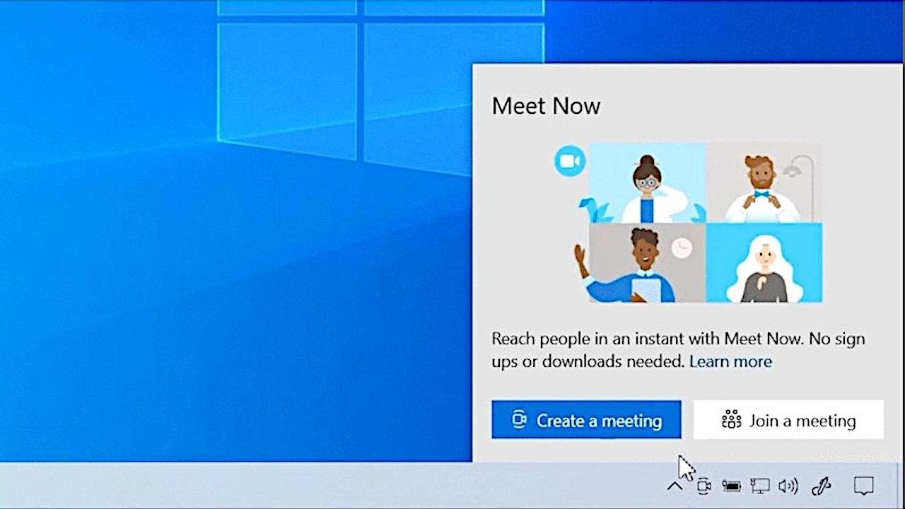 Windows 10 will bake Skype Meet Now in the Taskbar