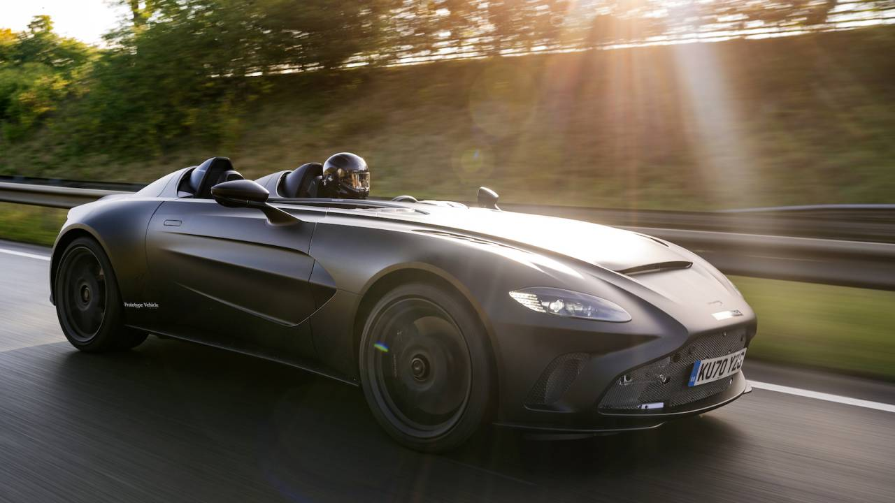 The Aston Martin V12 Speedster looks otherworldly-epic out in the wild