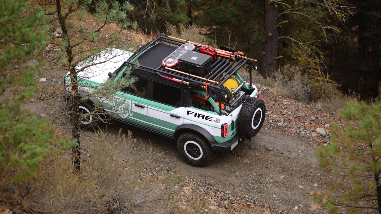 Ford and Filson created this Bronco Wildland Fire Rig concept for the National Forest Foundation