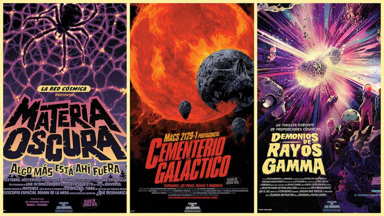 NASA's latest space posters feature creepy and retro horror designs