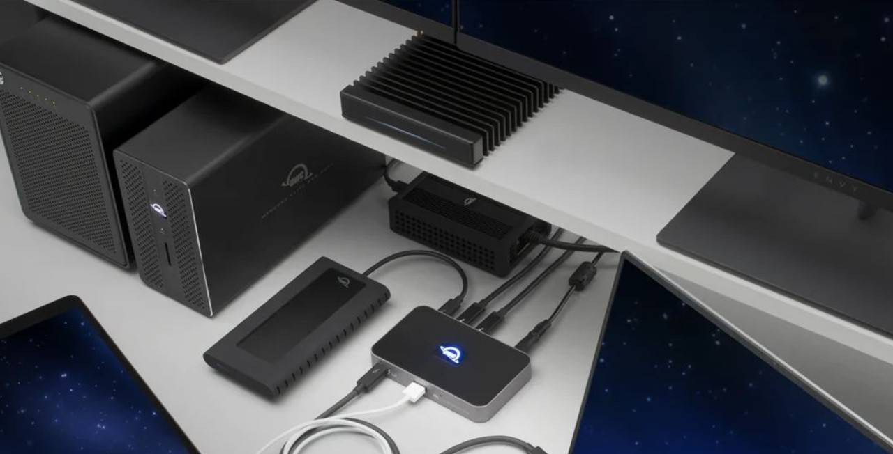 OWC's new Thunderbolt 4 hub packs three ports and unique design