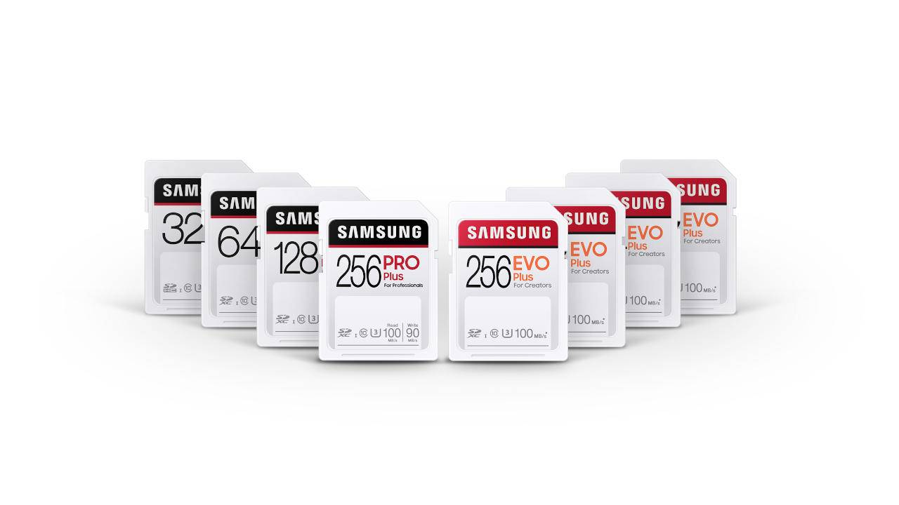 Samsung PRO Plus, EVO Plus SD cards aim squarely for content creators