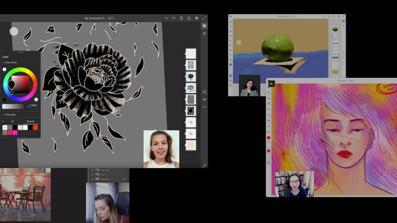 Photoshop, Illustrator on iPad gets live streaming feature