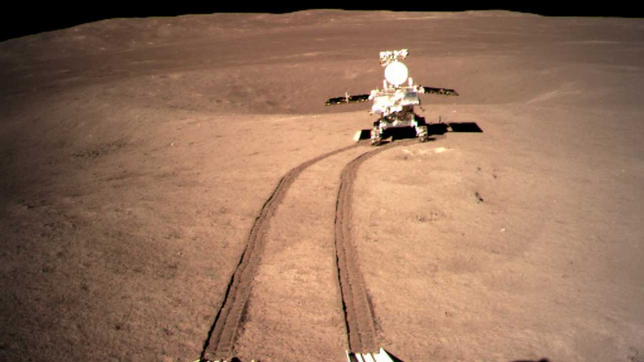 Chinese lunar rover cruises 565 meters on the far side of the moon
