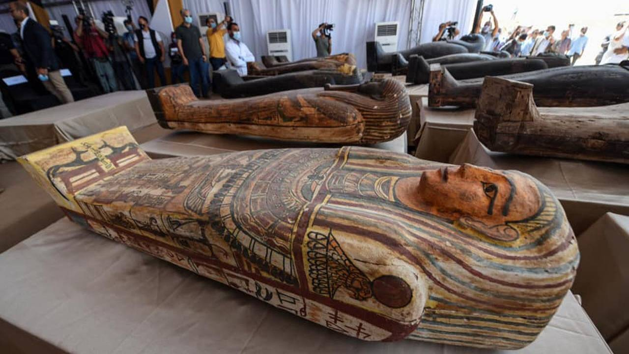 59 sealed sarcophagi and mummies discovered in Egypt