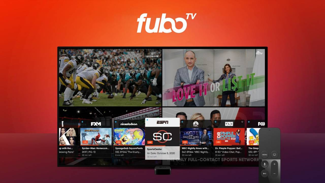 fuboTV now lets Apple TV users watch four sports games at once
